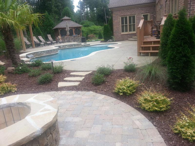 Hamilton mill pool landscaping perfekt erth landscaping for Pool design hamilton
